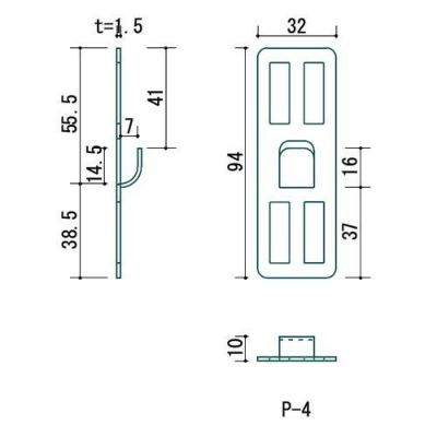 壁美人 石膏ボード用固定金具 P-4金具2枚セット P-4Sh 4985218113949