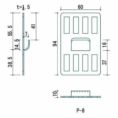 壁美人 石膏ボード用固定金具 P-8金具白2枚セット P-8Shw 4985218114625