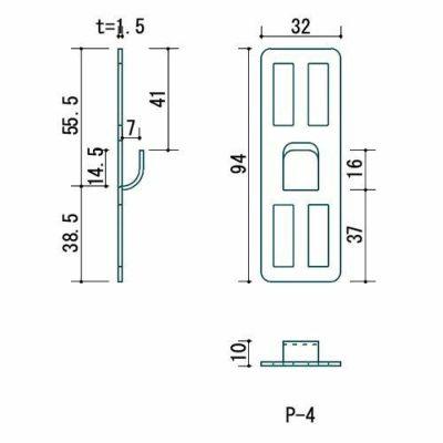 壁美人 石膏ボード用固定金具 P-4金具お試し P-4Sh-1 4985218115905